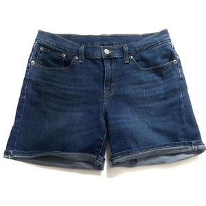 Cuffed Levi Denim Shorts